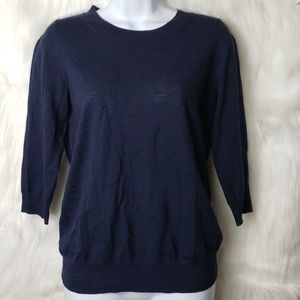 J. Crew Dark Blue Pullover Sweater